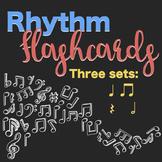 Rhythm Flashcards: ta, ti-ti, quarter-rest and half-note