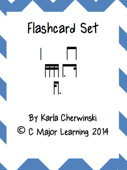Rhythm Flashcards ti-kam (sixteenth dotted eighth)