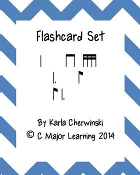 Rhythm Flashcards ti-tam (eighth dotted quarter)