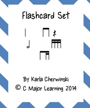 Rhythm Flashcards ti-tika (eighth 2 sixteenth)