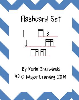 Rhythm Flashcards tika-ti (2 sixteenth eighth)