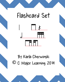 Rhythm Flashcards tika-ti (2 sixteenth eighth)