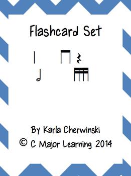Rhythm Flashcards tika-tika (sixteenth notes)