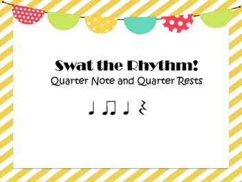 Swat the Rhythm! - Quarter Note/Rest and Paired 8th Note