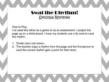 Swat the Rhythm - Practice Syncopa