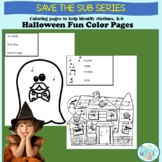 Rhythm-Focused Halloween Color Pages for In-Class or Dista