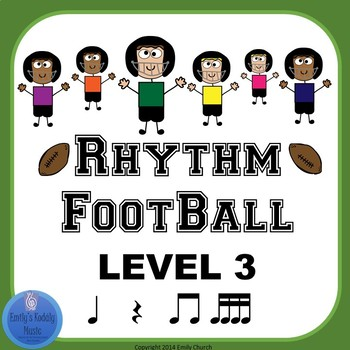 Rhythm Football Level 3: Beamed Sixteenth Notes