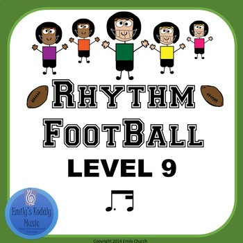 Rhythm Football Level 9: Dotted Eighth-Sixteenth