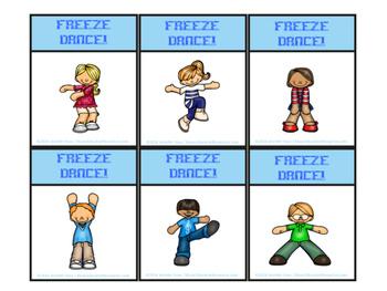 Rhythm Freeze Dance Card Game