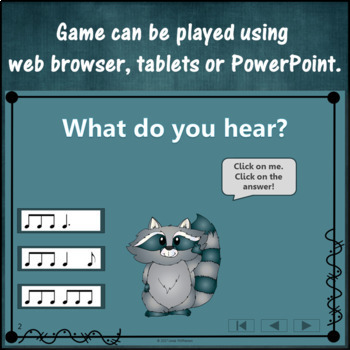 Rhythm Game: Compound Meter 6/8 Interactive Music Game {raccoon}