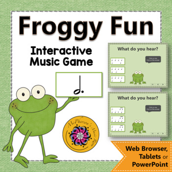 Rhythm Game: Dotted Half Note Interactive Music Game {Froggy Fun}