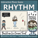 Rhythm Game ~ Eighth Notes Interactive Music Game {Distance Learning} Ice Cream