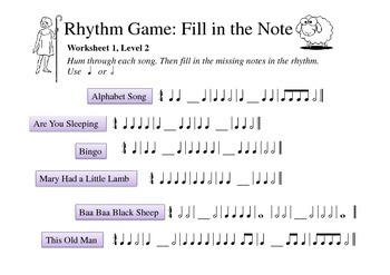 Rhythm Game: Fill in the Note