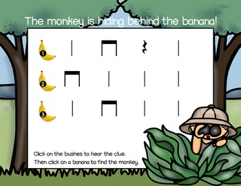 Rhythm Game: Find the Monkey {Quarter Note, Quarter Rest, Eighth Note Pair}