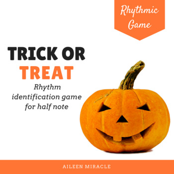 Halloween Music Game: Trick or Treat {Half Note}