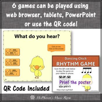 Rhythm Games Dancing Chick Interactive Music Games {Bundle}