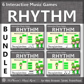 Rhythm Games Dancing Leprechaun Interactive Music Games {Bundle}