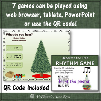 Rhythm Games: Decorate the Christmas Tree Interactive Music Games {Bundle}