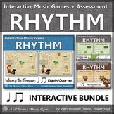 Rhythm Games {Eighth Note & Quarter Note} Interactive Bundle