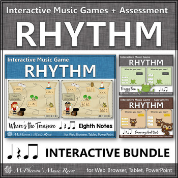 Rhythm Games {Eighth Notes with Quarter Rest} Interactive Bundle