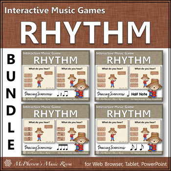 Rhythm Games Interactive Music Games Bundle {Dancing Scarecrow}