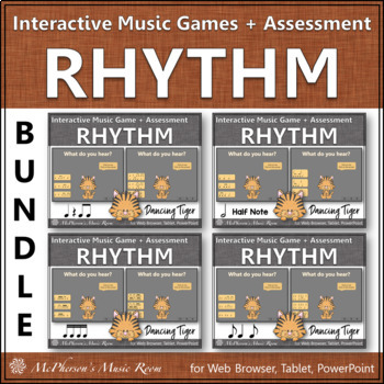 Rhythm Games Interactive Music Games and Assessments {Dancing Tiger}