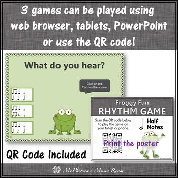 Rhythm Games {Half Notes} Interactive Bundle