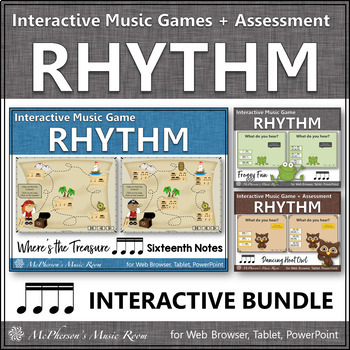 Rhythm Games {Sixteenth Notes} Interactive Bundle