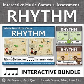 Rhythm Games {Sixteenth Notes} Interactive Bundle