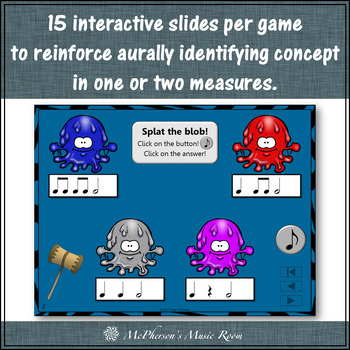 Rhythm Games for Half Notes Interactive Music Games and Assessment {Bundle}