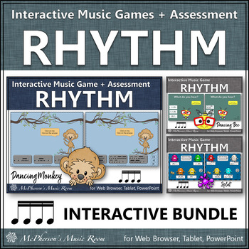 Rhythm Games for Sixteenth Notes Interactive Music Games and Assessment {Bundle}