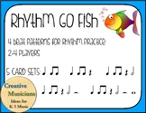 Rhythm Go Fish 4 beat patterns - 5 rhythm sets - Lower Gra
