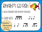 Rhythm Go Fish - 4 beat patterns - 5 different rhythm sets