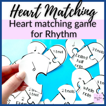 Rhythm Hearts Matching Game for Music Centers