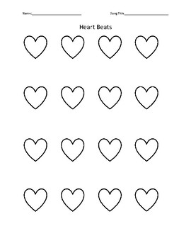 Rhythm Hearts Worksheet