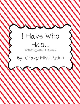 Rhythm - I Have... Who Has? Activity Cards