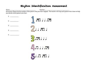 Rhythm Identification Assessment Pack