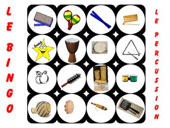 Rhythm Instrument Bingo