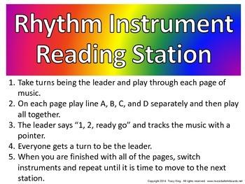Rhythm Instrument Reading Station