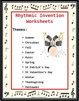 Rhythm Invention Worksheets