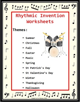 Rhythm Invention Worksheets