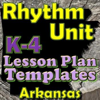 Rhythm Lesson Plan Template Bundle - Arkansas ELEM Music - Back-to-School BTS