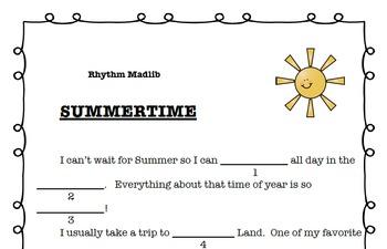 Rhythm Madlib- Summertime