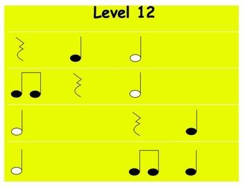 Rhythm Levels: 2nd Grade
