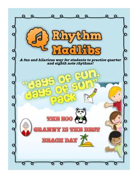 "Rhythm Madlib ""Days of Fun, Days of Sun"" Pack"