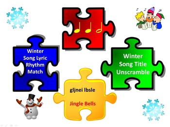 Rhythm Match: Winter Song Lyrics & Unscramble: Winter Song Titles 1