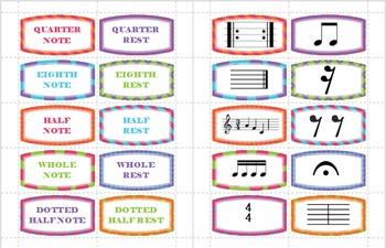 Rhythm Matching Card Game/Assessment