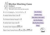 Rhythm Matching Game