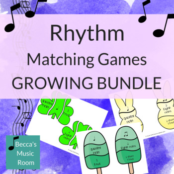Rhythm Matching Games for Music Centers GROWING BUNDLE