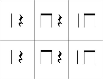 Rhythm Memory, Level 1: Quarter Note, Eighth Notes, Quarter Rest